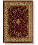 RugStudio presents Shaw Modern Home Courtland Red - 11800 Machine Woven, Best Quality Area Rug