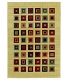 RugStudio presents Shaw Impressions Grid Block Multi 04440 Machine Woven, Good Quality Area Rug