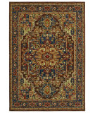 RugStudio presents Shaw Bob Timberlake Heritage Heriz Dark Brown 01710 Machine Woven, Good Quality Area Rug