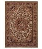 RugStudio presents Shaw Inspired Design Antique Manor Beige 01100 Machine Woven, Better Quality Area Rug