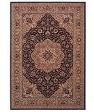 RugStudio presents Shaw Inspired Design Antique Manor Black 01500 Machine Woven, Better Quality Area Rug