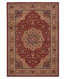 RugStudio presents Shaw Inspired Design Antique Manor Red 01800 Machine Woven, Better Quality Area Rug