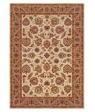 RugStudio presents Shaw Inspired Design Chateau Garden Beige 02100 Machine Woven, Better Quality Area Rug