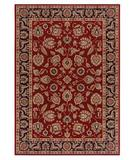 RugStudio presents Shaw Inspired Design Chateau Garden Red 02800 Machine Woven, Better Quality Area Rug