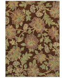 RugStudio presents Shaw Tommy Bahama Home-Nylon Island Bloom Dark Brown 57710 Machine Woven, Good Quality Area Rug