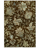 RugStudio presents Shaw Newport Jillian's Garden Brown 16700 Machine Woven, Better Quality Area Rug