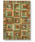 RugStudio presents Shaw Reverie Kaleidoscope Auburn - 02700 Machine Woven, Better Quality Area Rug