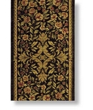 RugStudio presents Shaw Antiquities Mille Fleur Ebony - 66500 Machine Woven, Good Quality