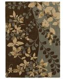 RugStudio presents Shaw Pacifica Flora Bella Blue Smoke 03400 Machine Woven, Best Quality Area Rug