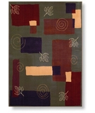 RugStudio presents Shaw Reverie Pond Fern - 08300 Machine Woven, Better Quality Area Rug