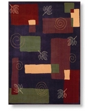 RugStudio presents Shaw Reverie Pond Plum - 08900 Machine Woven, Better Quality Area Rug