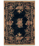 RugStudio presents Shaw Stonegate Queen Victoria Garden Black 07500 Machine Woven, Best Quality Area Rug
