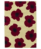 RugStudio presents Shaw Impressions Red Poppy Beige 10100 Machine Woven, Good Quality Area Rug