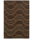 RugStudio presents Shaw Loft Sea Of Tranquility Brown 19700 Hand-Tufted, Good Quality Area Rug