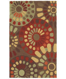 RugStudio presents Shaw World Market Garden Craft Sun Mosaic Brown 11700 Machine Woven, Good Quality Area Rug