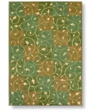 RugStudio presents Shaw Reverie Swirl Fern - 13300 Machine Woven, Better Quality Area Rug