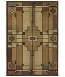 RugStudio presents Shaw Phillip Crowe Timber Creek Terra Cotta Light Multi 18110 Machine Woven, Better Quality Area Rug