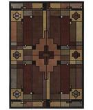 RugStudio presents Shaw Phillip Crowe Timber Creek Terra Cotta Multi 18440 Machine Woven, Better Quality Area Rug