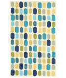 RugStudio presents Shaw World Market Garden Craft Waterfall Blue 15420 Machine Woven, Good Quality Area Rug