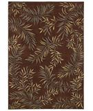 RugStudio presents Shaw Tommy Bahama Home-Olefin Leaves A Plenty Espresso-02700 Machine Woven, Good Quality Area Rug