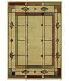 RugStudio presents Shaw Phillip Crowe Timber Creek Mission Leaf Beige-08100 Machine Woven, Better Quality Area Rug