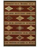 RugStudio presents Shaw Origins Painted Desert Cayenne Red 11800 Machine Woven, Better Quality Area Rug