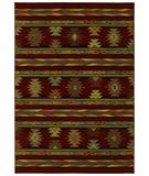 RugStudio presents Shaw Phillip Crowe Timber Creek Pueblo Scarlet-11800 Machine Woven, Better Quality Area Rug