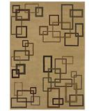 RugStudio presents Shaw Inspired Design Cubist Beige 17100 Machine Woven, Better Quality Area Rug