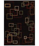 RugStudio presents Shaw Inspired Design Cubist Black 17500 Machine Woven, Better Quality Area Rug