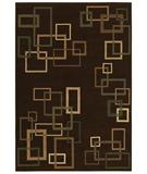 RugStudio presents Shaw Inspired Design Cubist Brown 17700 Machine Woven, Better Quality Area Rug
