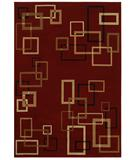 RugStudio presents Shaw Inspired Design Cubist Red 17800 Machine Woven, Better Quality Area Rug