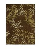 RugStudio presents Shaw Tommy Bahama Home-Nylon Florist Greens Dark Brown 27710 Machine Woven, Good Quality Area Rug