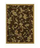 RugStudio presents Shaw Tommy Bahama Home-Nylon Garden Gate Dark Brown 37710 Machine Woven, Good Quality Area Rug