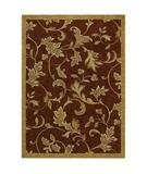 RugStudio presents Shaw Tommy Bahama Home-Nylon Garden Gate Cranberry 37800 Machine Woven, Good Quality Area Rug