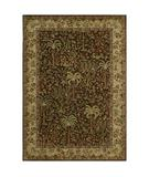 RugStudio presents Rugstudio Sample Sale 24896R Dark Brown 28710 Machine Woven, Good Quality Area Rug