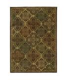 RugStudio presents Shaw Tommy Bahama Home-Nylon Moroccan Mosaic Dark Brown 40710 Machine Woven, Good Quality Area Rug
