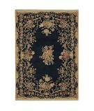 RugStudio presents Shaw Stonegate Queen Victoria Garden Black - 7500 Machine Woven, Best Quality Area Rug