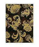 RugStudio presents Shaw Tommy Bahama Home-Nylon Bahama Bloom Black 41500 Machine Woven, Good Quality Area Rug