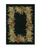 RugStudio presents Shaw Tommy Bahama Home-Nylon Border Boquet Navy 31400 Machine Woven, Good Quality Area Rug