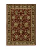 RugStudio presents Shaw Tommy Bahama Home-Nylon Paisley Lagoon Cranberry 39800 Machine Woven, Good Quality Area Rug
