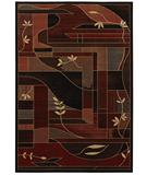 RugStudio presents Shaw Inspired Design Soraya Black 16500 Machine Woven, Better Quality Area Rug