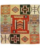RugStudio presents Southwest Looms Dreamcatcher Germantown N-4A Flat-Woven Area Rug