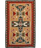 RugStudio presents Southwest Looms Dreamcatcher Teec Nos Pos N-5B Tan Flat-Woven Area Rug