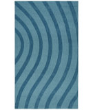 RugStudio presents St. Croix Transitions Cut & Loop Waves Clt01 Blue Hand-Tufted, Good Quality Area Rug