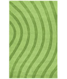 RugStudio presents St. Croix Transitions Cut & Loop Waves Clt02 Green Hand-Tufted, Good Quality Area Rug