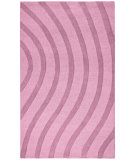 RugStudio presents St. Croix Transitions Cut & Loop Waves Clt04 Purple Hand-Tufted, Good Quality Area Rug