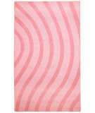 RugStudio presents St. Croix Transitions Cut & Loop Waves Clt06 Pink Hand-Tufted, Good Quality Area Rug