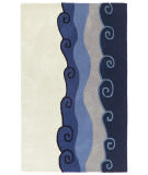 RugStudio presents St. Croix Structure Malibu Ct13 Blue Hand-Tufted, Good Quality Area Rug