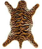RugStudio presents St. Croix Safari Tiger Ct91 Orange Hand-Tufted, Best Quality Area Rug