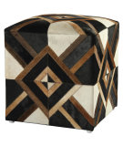 RugStudio presents St. Croix Poufs Fls03 Black